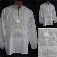 """Вышиванка мужская, """"Квадраты"""" с длинным рукавом, домотканное полотно ,р-ры: 44-60, 420/450 грн."""