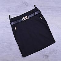 Юбка школьная Fujiayi для девочек. #701. Размеры 21-26. Черная. Школьная форма оптом