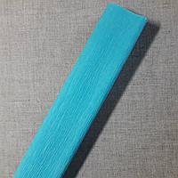 Гофрированная бумага голубая Польша