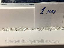 Бриллиант  натуральный природный белый чистый купить в Украине 10шт по 1 мм 0,006 карат 3/4-3/5