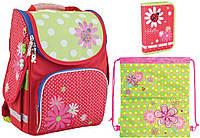 """Комплект школьный. Рюкзак """"Ladybug"""" 553334, Пенал и Сумка, ТМ SMART PG-11"""