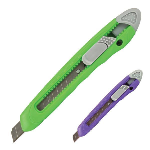 Нож канцелярский маленький Axent 6401, лезвие 9 мм, салатовый