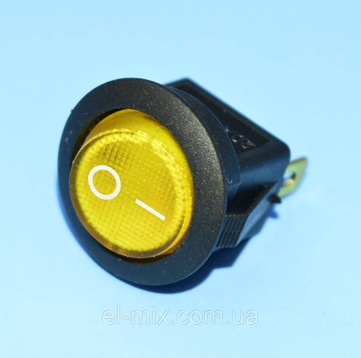 Вимикач 12В IRS-101-8С жовтий 1-група ON-OFF PRK0018Е