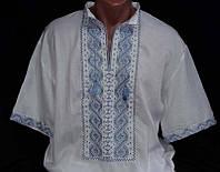 """Вышиванка мужская с бисером, """"Святослав 2"""" с коротким рукавом, домотканное полотно ,р-ры: 44-58, 480/510 грн."""
