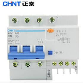 Автоматический выключатель дифференциального тока на DIN-рейку DZ47LE (электромеханический)