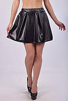 Легкая летняя юбка - колокол из экокожи (взрослые и детские размеры), фото 1