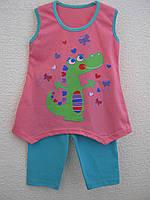 Літній комплект (майка-туніка + бріджі) для дівчинки (3-4 роки)
