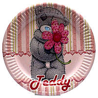"""Тарелки """"Тедди розовый"""". Размер: 18см. В упак: 10шт."""