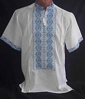 """Вышиванка мужская, """"Богуслав"""" с коротким рукавом, домотканное полотно ,р-ры: 46-54, 420/450 грн."""