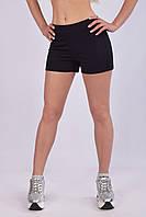 Женские спортивные шорты с завышенной талией из плотного трикотажа двунитка , фото 1