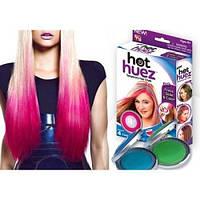Цветная пудра мелки для волос Hot Huez 4 шт.