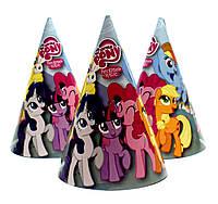 """Колпачки бумажные """"Litlle Pony"""" голубые. В упак: 10шт.  Размер: 16см."""