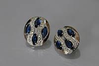 Серебряные серьги с маркизами (арт. ch0028)