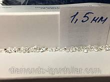 Бриллиант  натуральный природный белый чистый купить в Украине 10шт по 1,5 мм 0,015 карат 2/3-2/4
