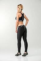 Женский костюм для фитнеса топ и лосины Black