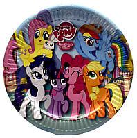 """Тарелки """"Little Pony"""". Размер: 18см. В упак: 10шт."""