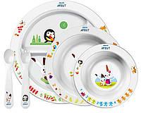 Набор посуды (с пингвином на большой тарелке), Avent