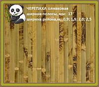 """Бамбуковые обои """"Черепаха"""" оливковая"""