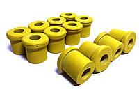Втулка рессоры задн. Москвич,прицепы полиуретан желт. (компл.12шт) (пр-во Украина)