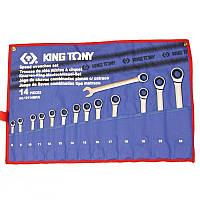 Набор ключей комби с трещеткой 14шт. (8-24) King Tony 12114MRN