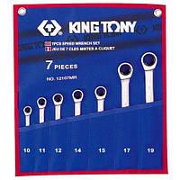 Набор ключей комби с трещеткой 7шт. (10-19мм) King Tony 12107MRN