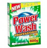 Стиральный порошок Power Wash  professional  картон д / цветного 600 + 15 гр