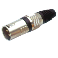 Коннектор канон 3-х контактный папа BIG GCA024