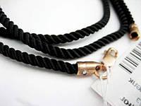 Шелковый крученый шнурок Милан с позолотой 50