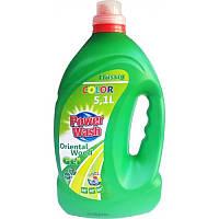 Гель Power Wash  для стирки цветной ткани (зеленый) 5,1 л 68 стирок