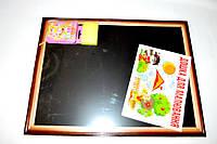Доска для рисования в деревянной рамке, мелки,губка 34*44 см