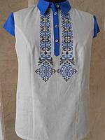 Блуза женская белая с вышивкой большого размера