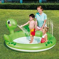 Детский надувной бассеин черепаха плюс черепаха поливает с рта воду