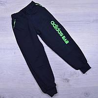 """Спортивные штаны детские """"Adidas реплика"""". 1-5 лет. Темно-синий+зеленый. Оптом"""