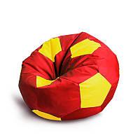 Красно жёлтый кресло мешок мяч