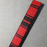 Гофрированная бумага красная клетка Польша, фото 1