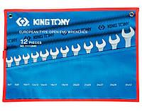Набор ключей рожковых 12шт. (6-32мм) King Tony 1112MRN