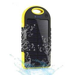 Пыле-влагозащищенный аккумулятор с солнечной батареей Solar Power Bank 5000mAh, зарядка power bank