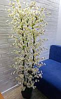 Дерево  цветущей белой сакуры искусственное(высота 1.60)