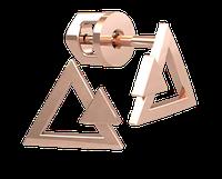 Золотые серёжки пустые Треугольники