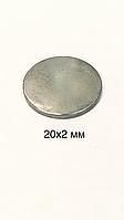 Магнит сумочный (неодимовый).D20x2mm