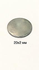 Магнит сумочный  неодимовый D20x2mm