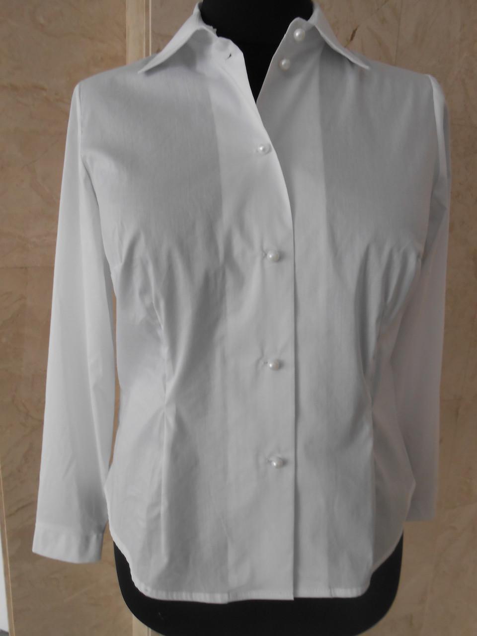 1341727ae55 Блуза женская белая классическая большого размера 56-58