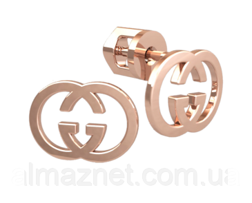 Золотые серёжки пустые Coco Chanel без камней