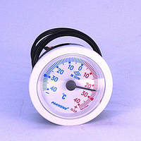 Термометр капиллярный PAKKENS Ø52 мм / t° -40 до 40°С / капилляр L-1m