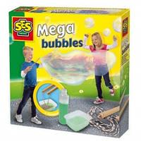 Набор для создания гигантских мыльных пузырей - МЕГА (мыльный раствор, инструменты)