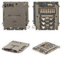 Коннектор карты памяти для мобильных телефонов Samsung A300F Galaxy A3, A300FU Galaxy A3, A300G Galaxy A3, A300H Galaxy A3, A500F Galaxy A5, A500FU
