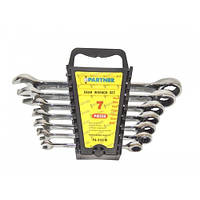 Набор ключей комбинированных трещоточных 7 предметов 8-19мм Partner PA-3107M