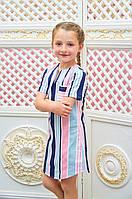 Детское платье для девочки Линия мятный р.116-134
