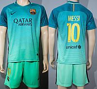 Футбольная форма Барселона Месси сезон 16/17 бирюзовая