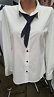 Школьная нарядная блузка с галстуком для девочки 10-14 лет